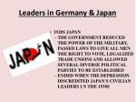 leaders in germany japan10