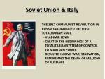 soviet union italy