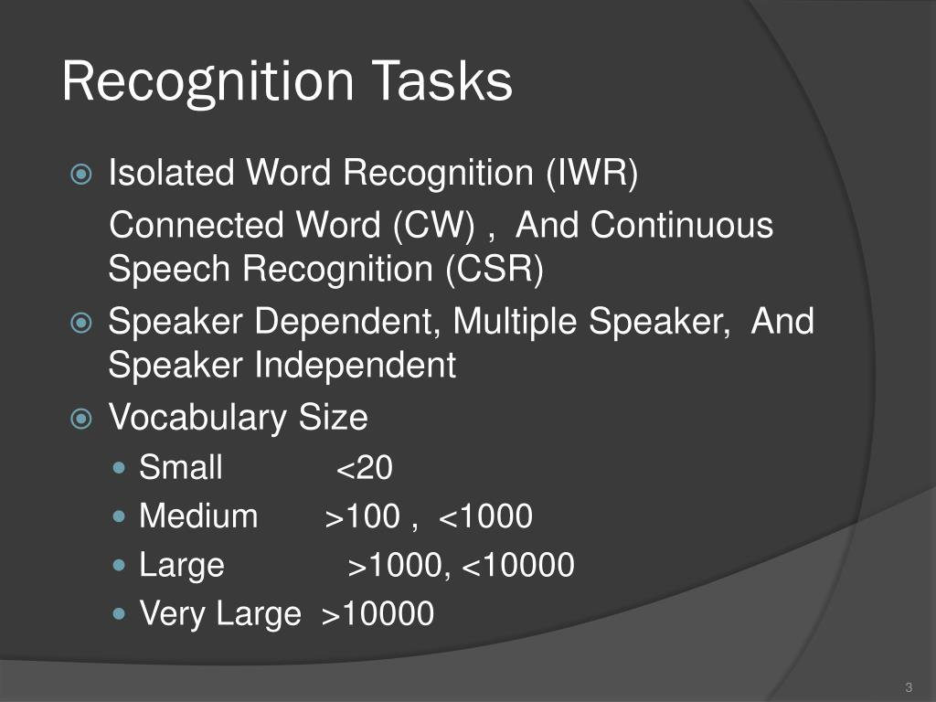 PPT - 8- Speech Recognition PowerPoint Presentation, free