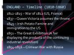 england timeline 1810 1860