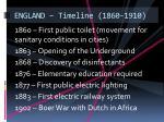 england timeline 1860 1910