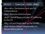 mexico timeline 1810 1860