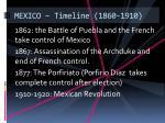 mexico timeline 1860 1910