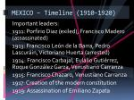 mexico timeline 1910 1920