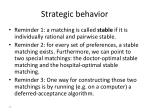 strategic behavior1