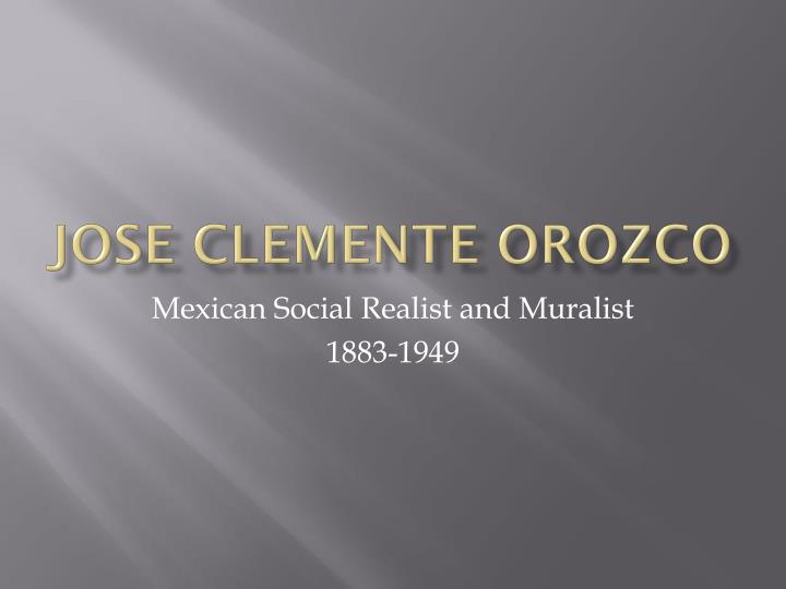 jose clemente orozco n.