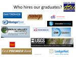 who hires our graduates