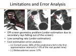 limitations and error analysis
