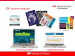 iop careers materials