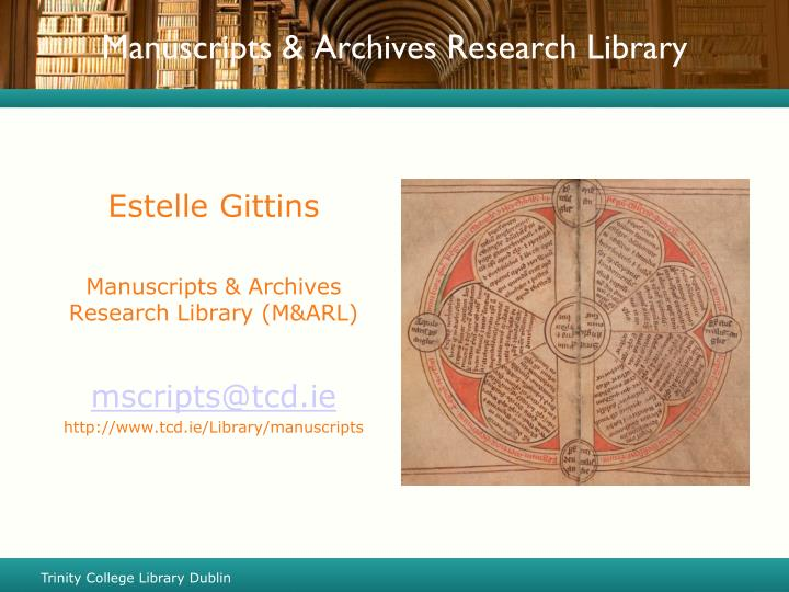 manuscripts archives research library n.