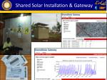 shared solar installation gateway