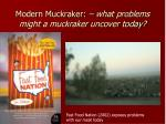 modern muckraker what problems might a muckraker uncover today