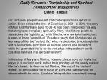 godly servants discipleship and spiritual formation for missionaries