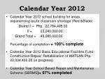 calendar year 2012