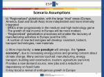 scenario assumptions1