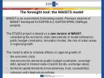 the foresight tool the masst3 model
