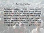1 demographic