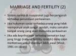 marriage and fertility 2