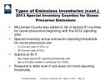 types of emissions inventories cont 2013 special inventory counties for ozone precursor emissions