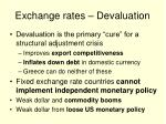 exchange rates devaluation
