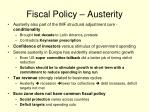 fiscal policy austerity