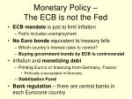 monetary policy the ecb is not the fed