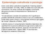 epistemologia costruttivista in psicologia