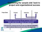 connecting the people side back to project and organizational success