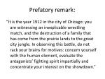 prefatory remark