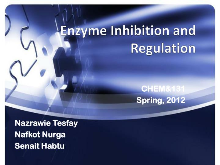 enzyme inhibition and regulation n.