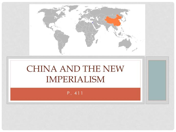 china and the new imperialism n.