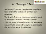 an arranged text