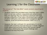 learning 1 for the classroom