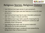 religious stories religious history