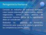 reingenier a humana