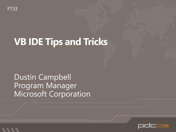 vb ide tips and tricks n.
