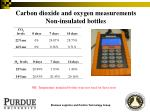 carbon dioxide and oxygen measurements non insulated bottles