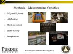 methods measurement variables