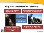 king david model of servant leadership