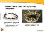 the messiah to come through david s descendants