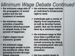 minimum wage debate continued
