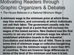 motivating readers through graphic organizers debates1