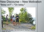 new discourse new motivation belay on on belay