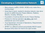 developing a collaborative network