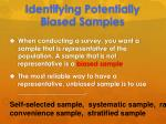 identifying potentially biased samples1
