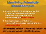 identifying potentially biased samples2