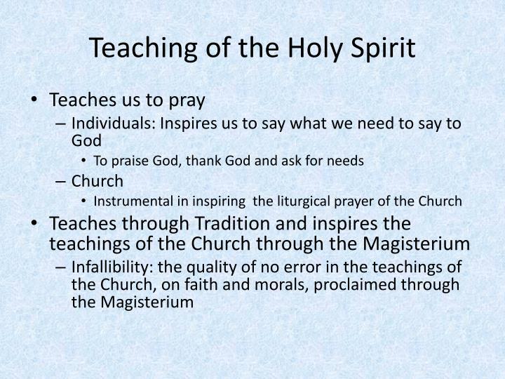 Teaching of the Holy Spirit