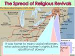 the spread of religious revivals