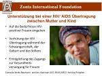 unterst tzung bei einer hiv aids bertragung zwischen mutter und kind