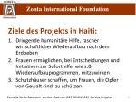 ziele des projekts in haiti
